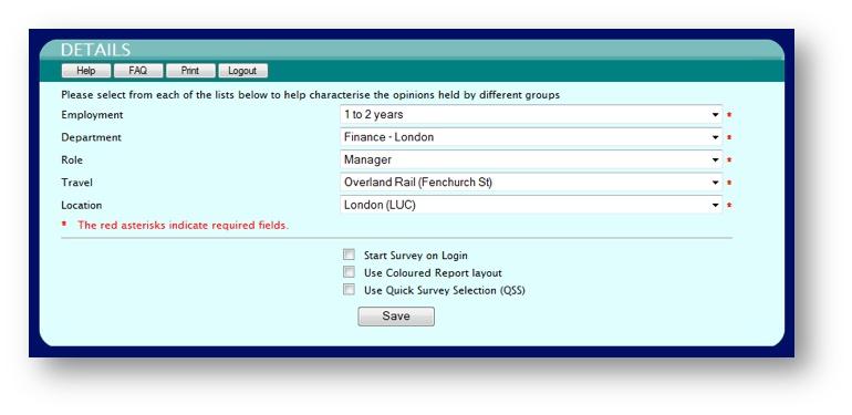 Business continuity training programme, survey details.